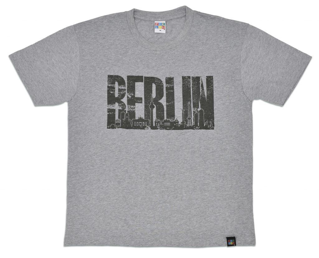 010-0210 T-Shirt BERLIN Skyline greu