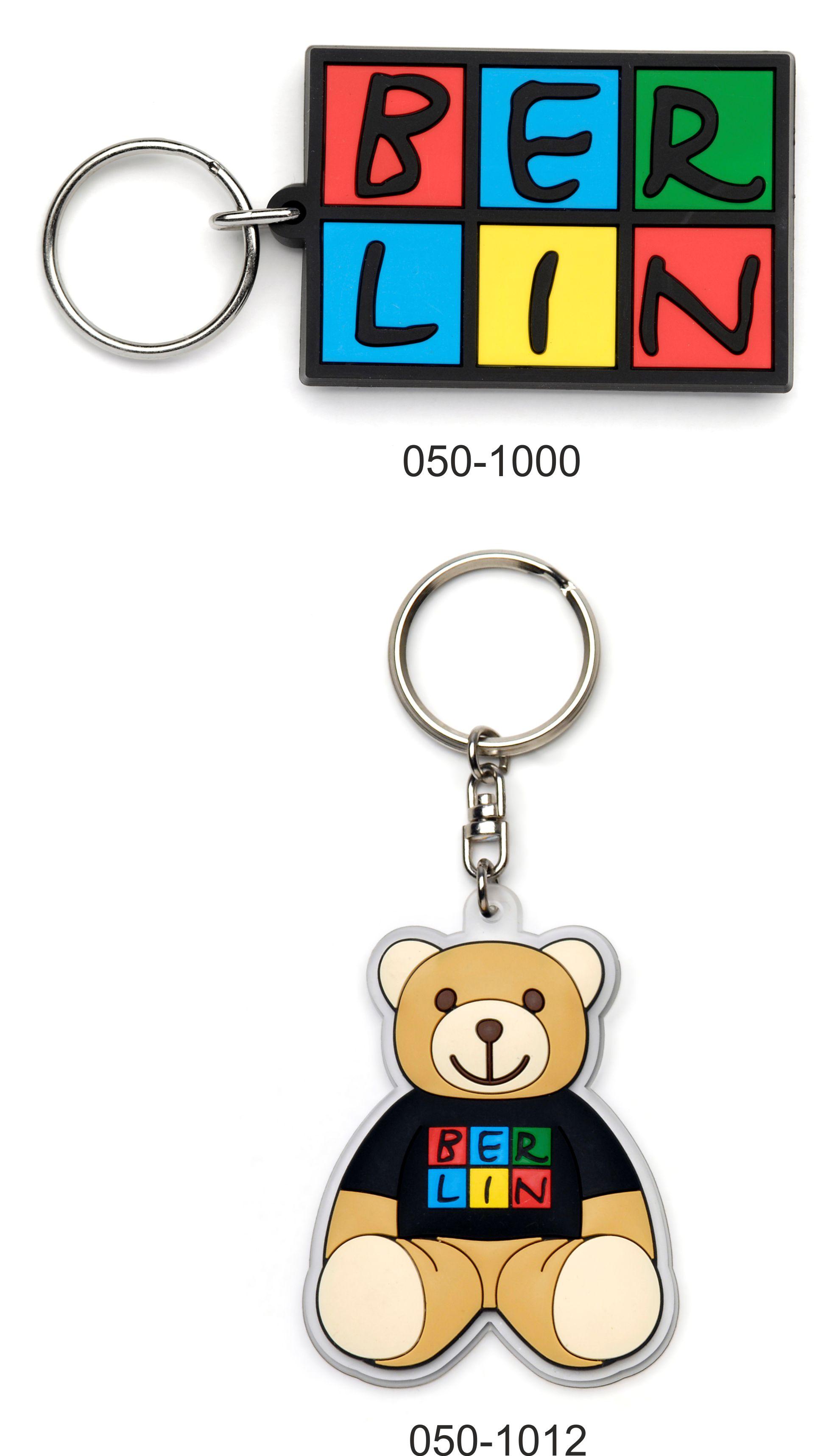 050-1012 Schlüsselanhänger Bär aus Gummi WB