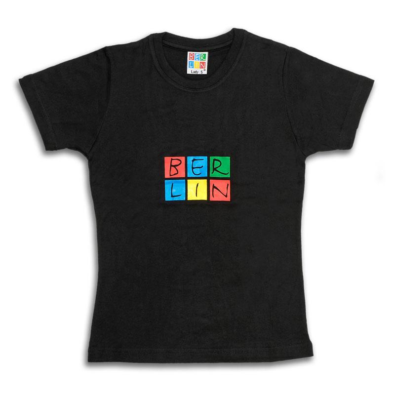 010-2000 Lady T-Shirt BERLIN schwarz-bunt