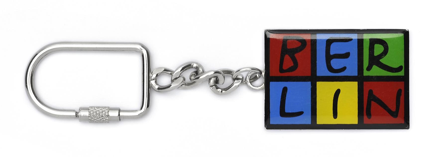 050-1020 Schlüsselanhänger BERLIN Metall