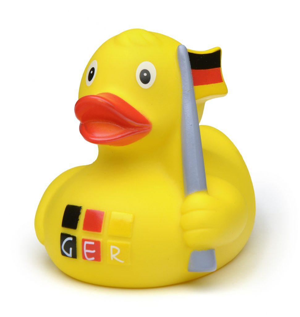 GER10-0002 Ente mit Fahne