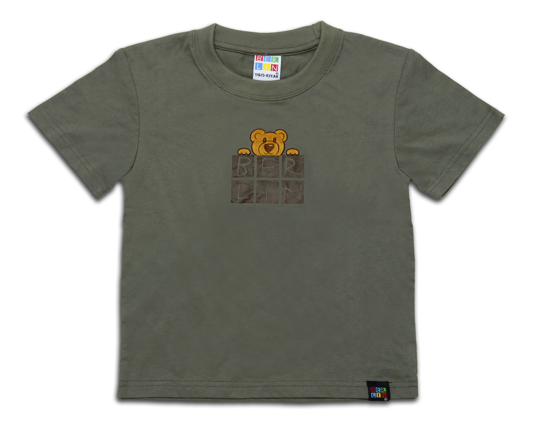 010-1532 Kids T-Shirt BERLIN Bärchen oliv
