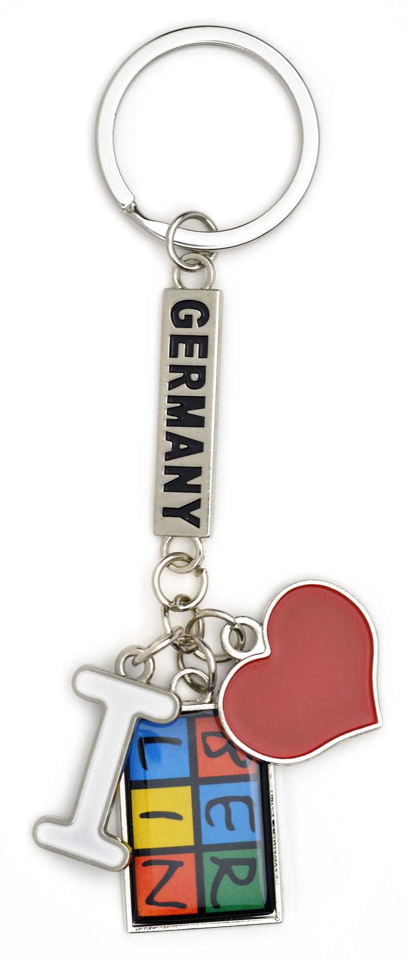 050-1022 Schlüsselanhänger I love BERLIN, 3-teilig