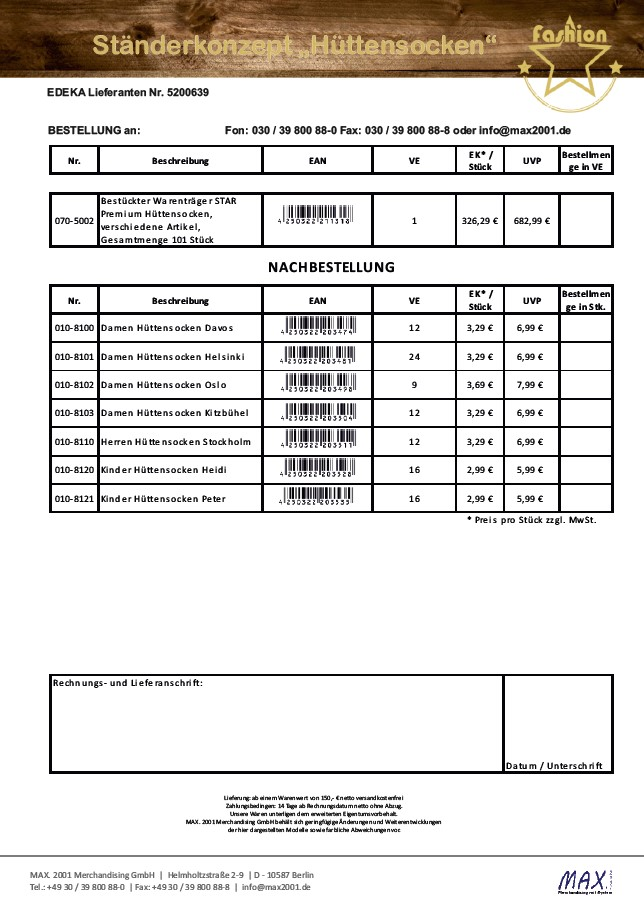 Hüttensocken_2020_EDEKA_Bestellformular