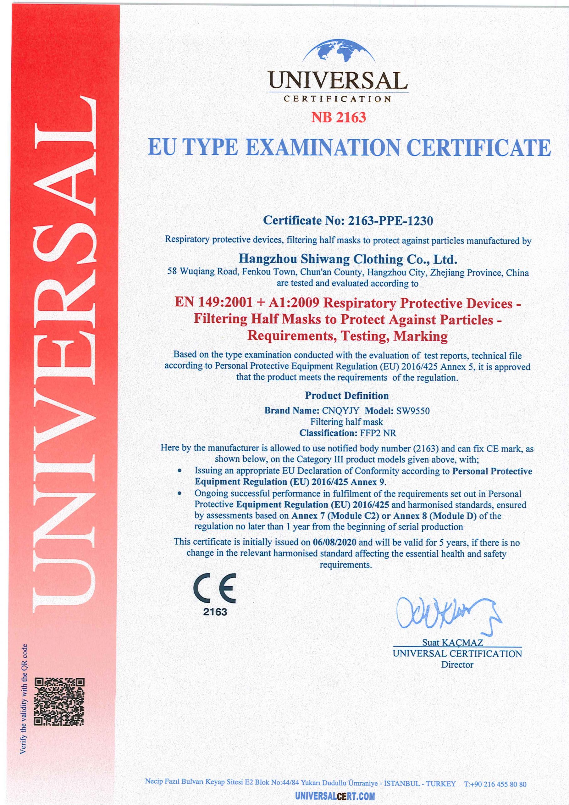 Zertifikat CEv2631